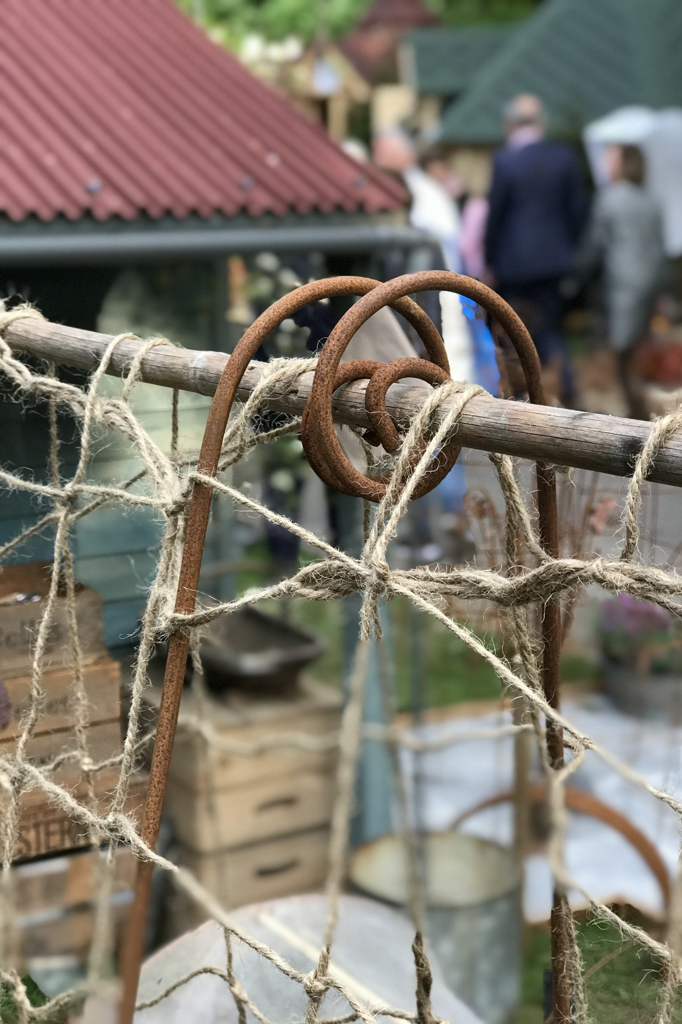 Bean Poles - seen at RHS Chelsea. Create a frame to support a net, for climbing peas, beans...