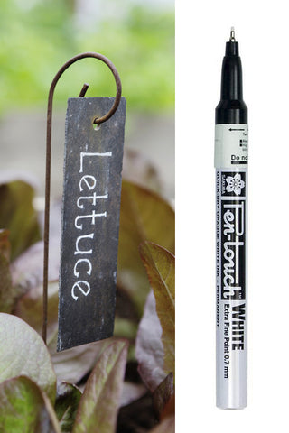 Plant Labels x 10 & FREE White Marker set