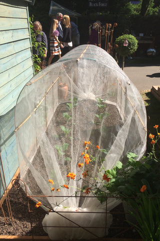 4ft Tunnel, cloche hoops with loops to thread canes for stability. Protect fruit & veg
