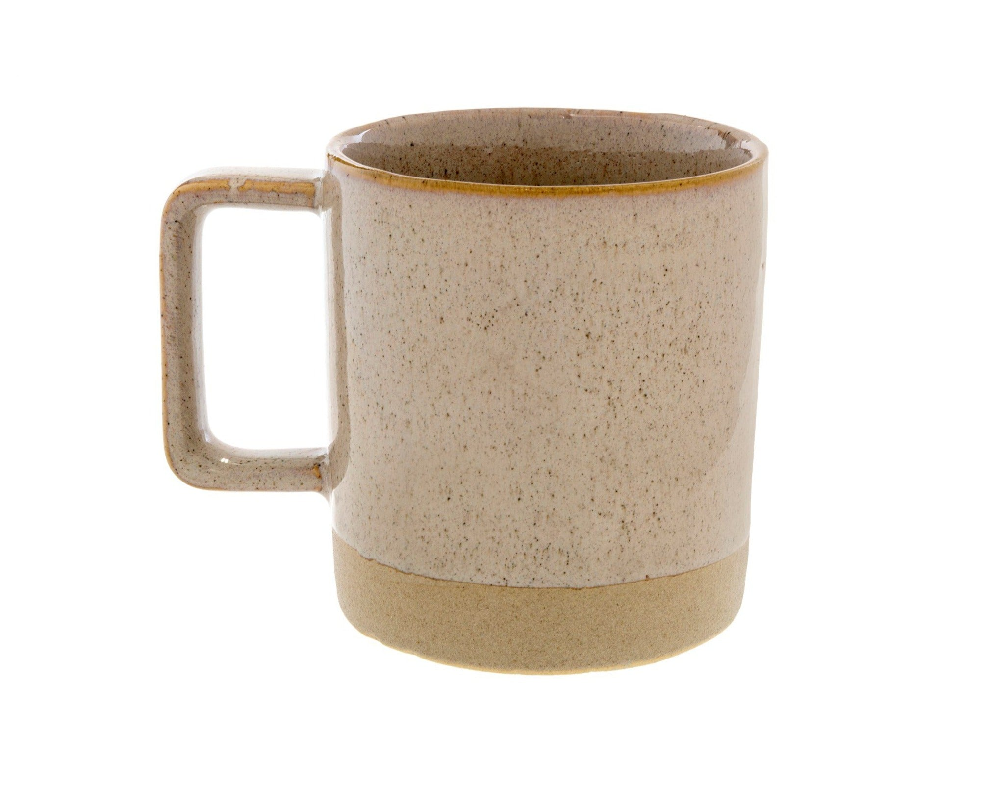 Tasse - Taupe picots noirs