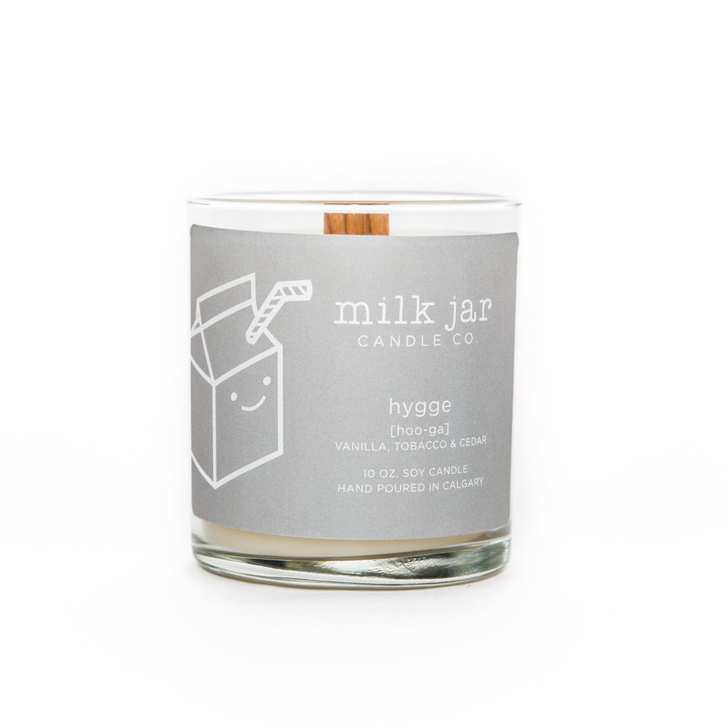 Milk Jar Candle Co | Hygge : Vanilla, Tobacco & Cedar Wood