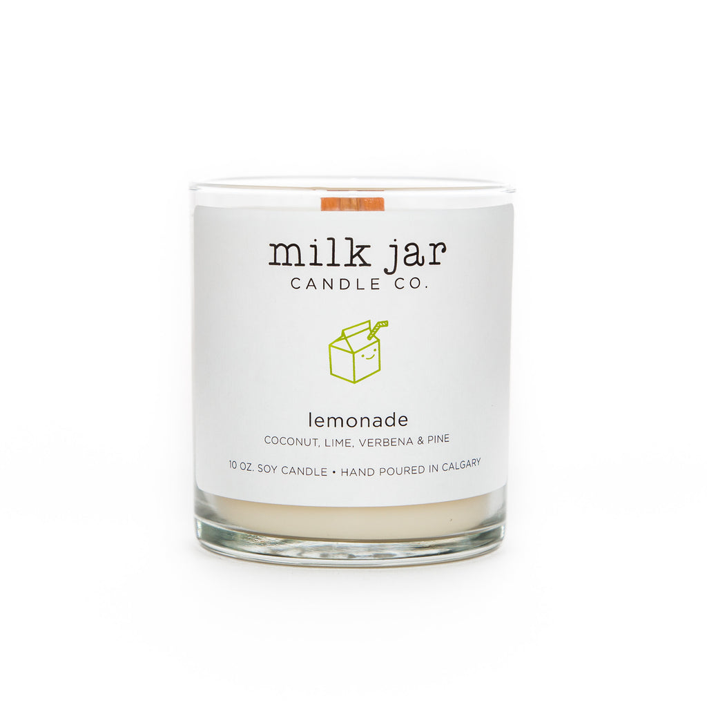 Milk Jar Candle Co | Lemonade : Coconut, Lime, Verbena & Pine