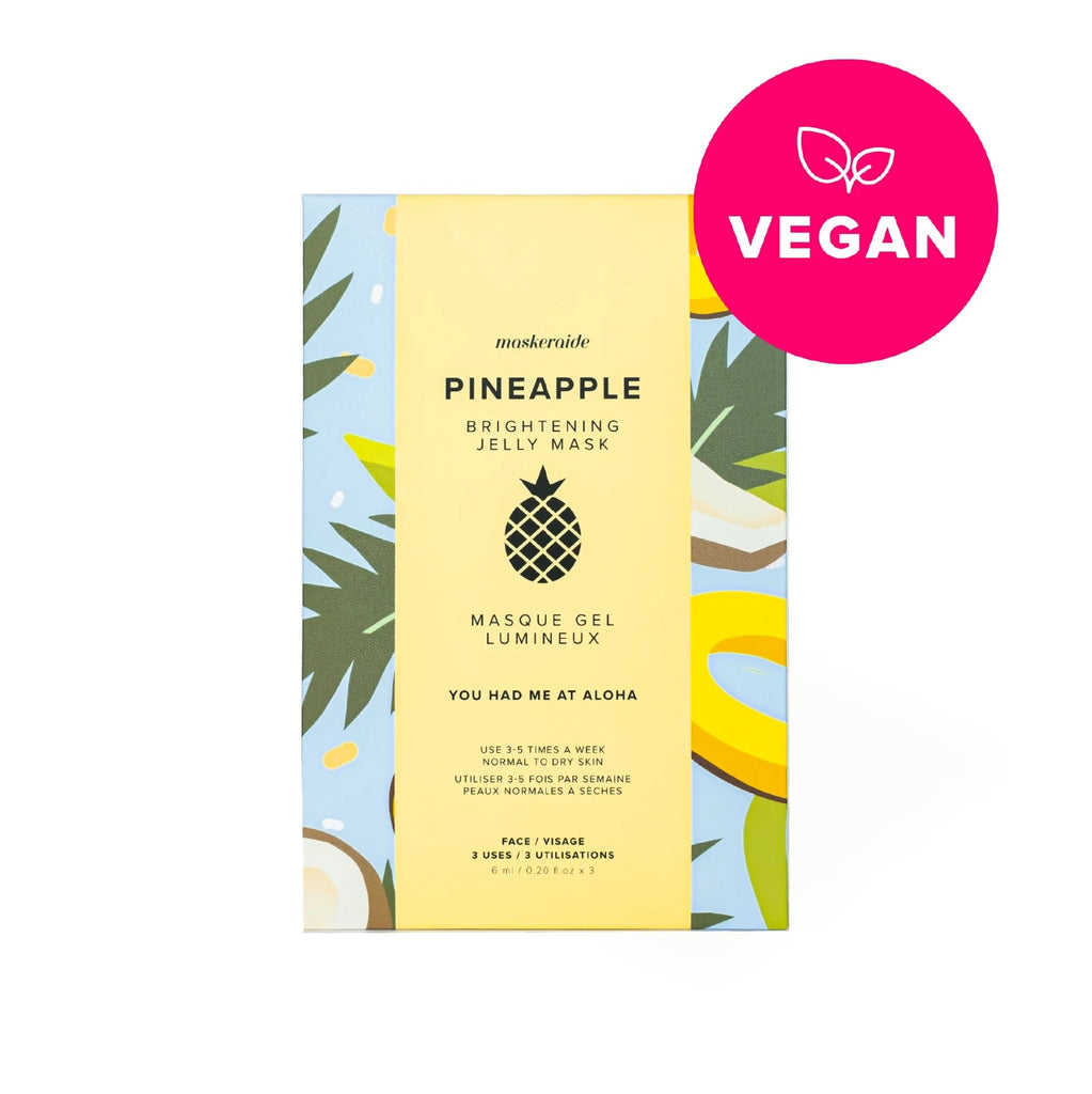 MaskerAide | Pineapple Brightening Jelly Mask 3 pack