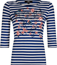 "Laden Sie das Bild in den Galerie-Viewer, HV Polo Society Shirt ""Clementine"" Marine Navy 3/4 Ärmel 0403102950"