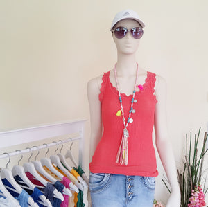 "Top ""Spitze"" Onesize in Orange SALE"