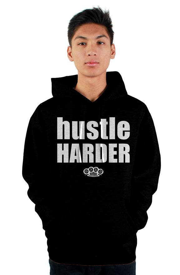 Hard Knocks Moto HUSTLE HARDER Hoodie