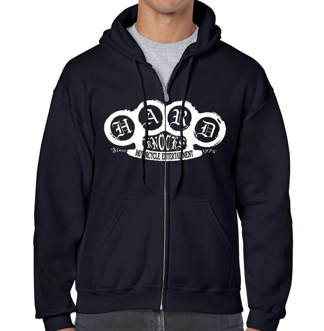 Hard Knocks Moto Classic Zippered Hoodie