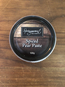 Springmount Spiced Pear Paste