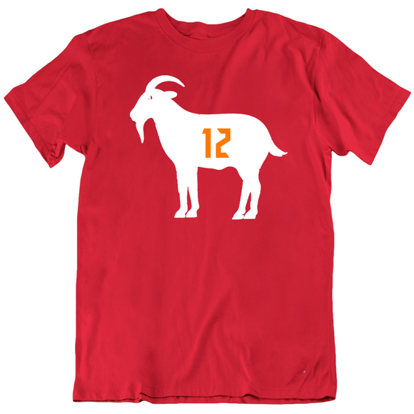Tom Brady Goat 12 Tampa Bay Football Fan T Shirt