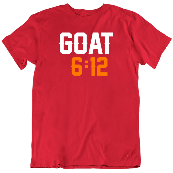Tom Brady Goat 6 12 Tampa Bay Football Fan T Shirt