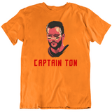 Tom Brady Captain Tom Tampa Bay Retro Football Fan T Shirt
