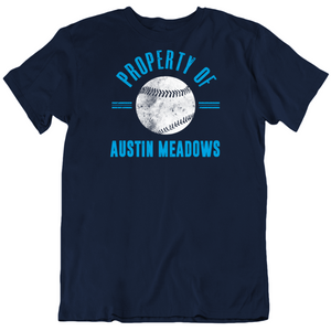 Austin Meadows Property Of Tampa Bay Baseball Fan T Shirt