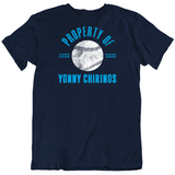 Yonny Chirinos Property Of Tampa Bay Baseball Fan T Shirt