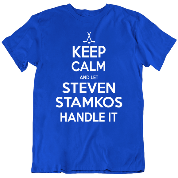 Steven Stamkos Keep Calm Handle It Tampa Bay Hockey Fan T Shirt