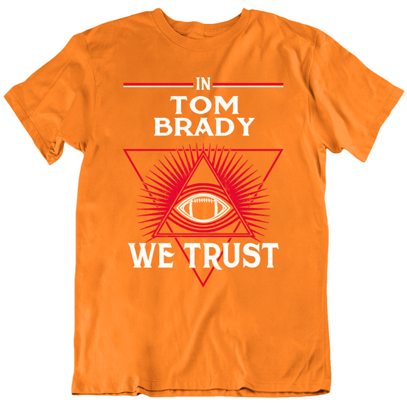 Tom Brady We Trust Tampa Bay Retro Football Fan T Shirt