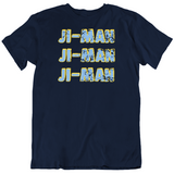 Ji Man Choi Tampa Bay Baseball Fan Distressed T Shirt