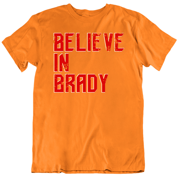 Tom Brady Believe In Brady Goat Retro Tampa Bay Football Fan T Shirt