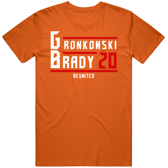 Rob Gronkowski Tom Brady Reunited Tampa Bay Retro Football Fan T Shirt