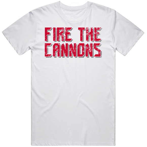 Fire The Cannons Tampa Football Fan V2 Distressed T Shirt