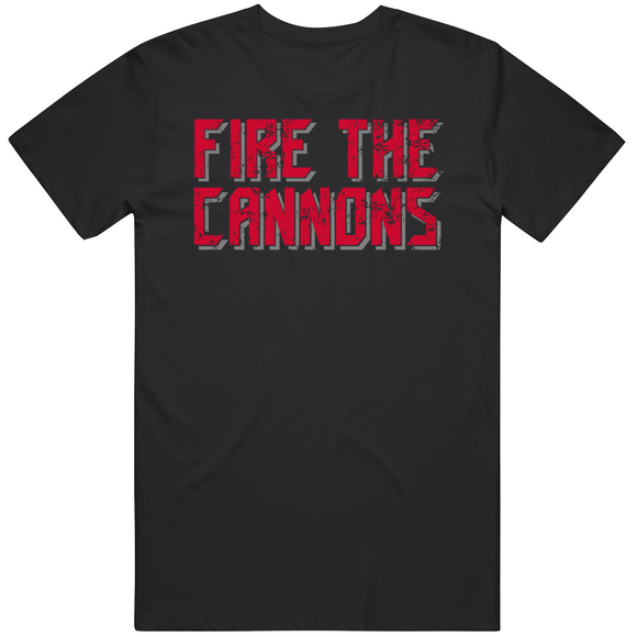 Fire The Cannons Tampa Football Fan V2 Black Distressed T Shirt