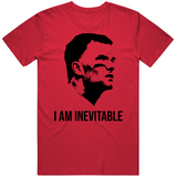 Tom Brady I Am Inevitable Avengers Thanos Parody Tampa Bay Football Fan T Shirt