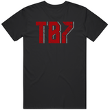 Tom Brady Tb7 Tampa Bay Football Fan Distressed T Shirt