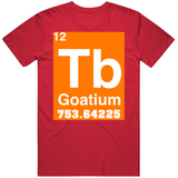 Tom Brady Periodic Table 7 Titles 5 Mvp 3 League Height Weight Tampa Bay Football Fan V3 T Shirt