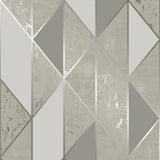 Superfresco 'Milan' Modern Abstract Wallpaper | Graham & Brown |106406 Geo Taupe - Wallpaper Mart