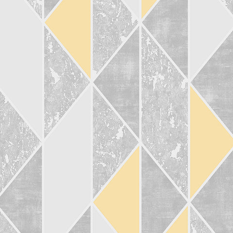 Superfresco 'Milan' Modern Abstract Wallpaper | Graham & Brown |106533 Geo Yellow - Wallpaper Mart