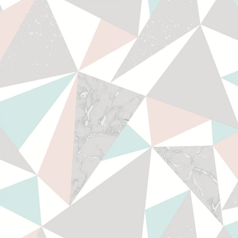 Elements - Geometric Shards Wallpaper | Holden Decor | Glacier - Wallpaper Mart