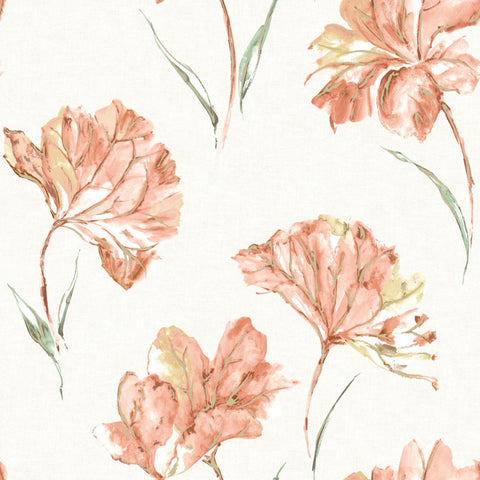 Elements - Watercolor Azalea Wallpaper | Holden Decor | Azalea - Wallpaper Mart