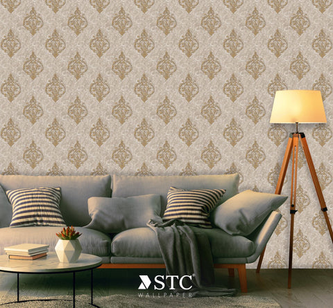 Priceless Contemporary & Damask Wall covering  | PL237-39-40 - Wallpaper Mart