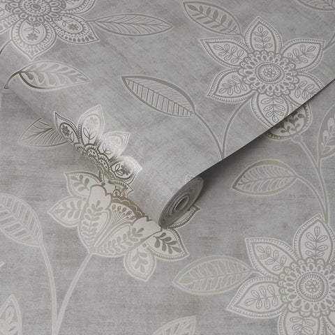 Superfresco 'Milan' Modern Abstract Wallpaper | Graham & Brown | 106531 Florella Taupe - Wallpaper Mart