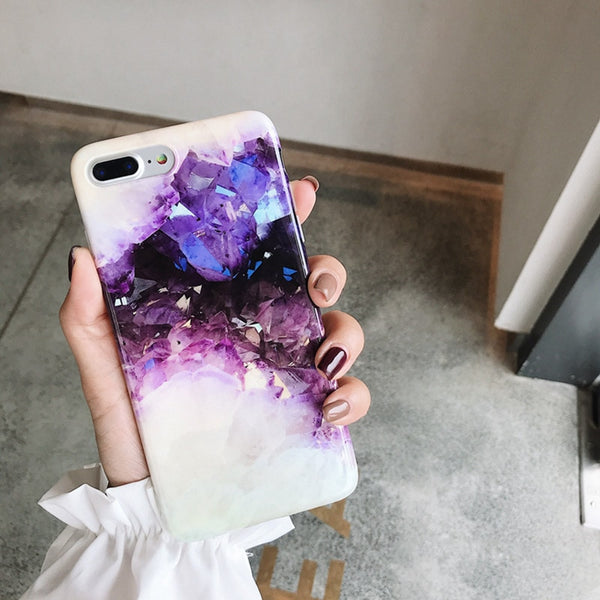 Crystal Amethyst iPhone Case