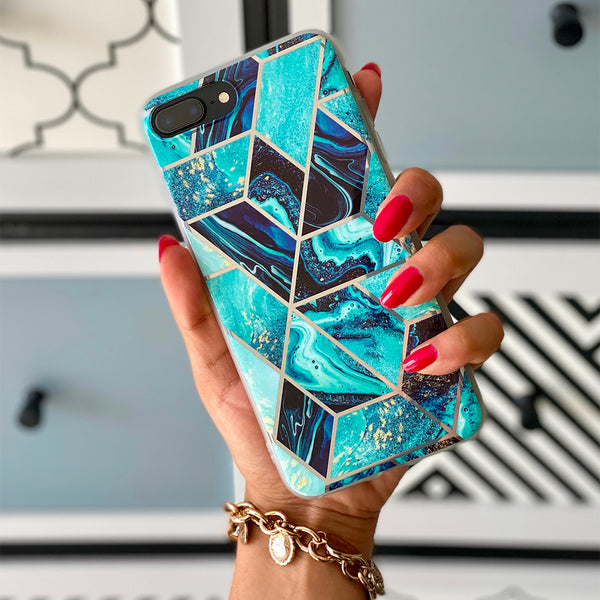 Geometric Marble iPhone Case
