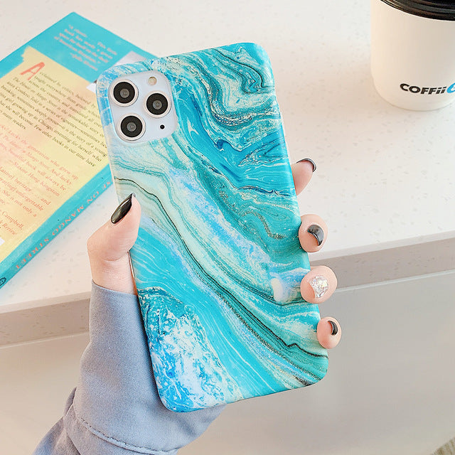 Marble Summer Glow iPhone Case