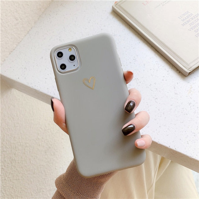 Love Heart Soft iPhone Case