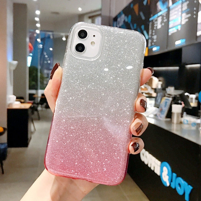 Glittering Tempered iPhone Case