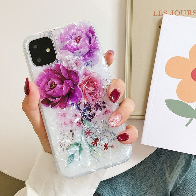 Glossy flower iPhone Case