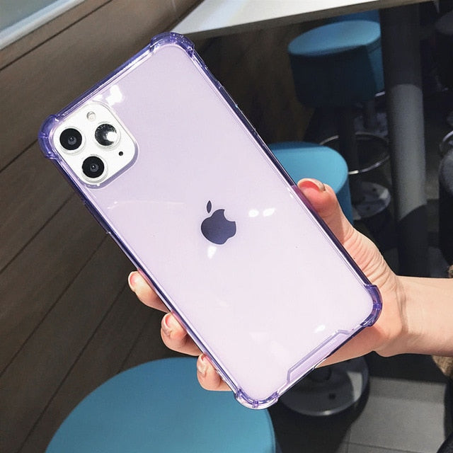 Shockproof Bumper Transparent iPhone Case