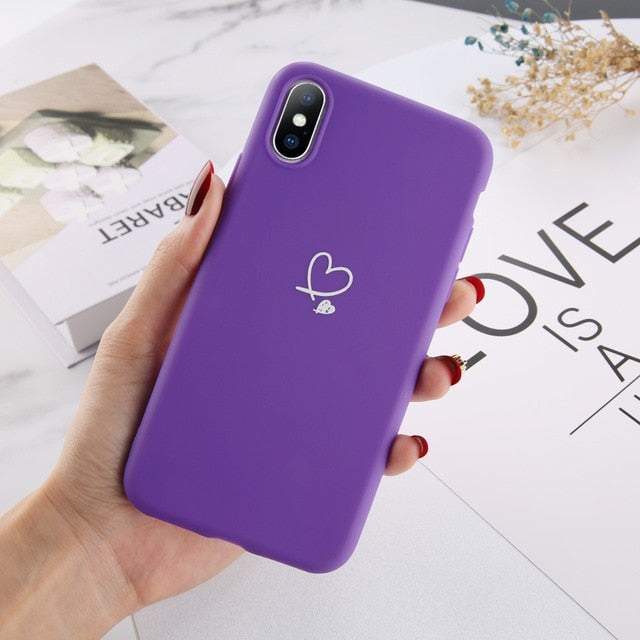 Heart Silicone iPhone Case