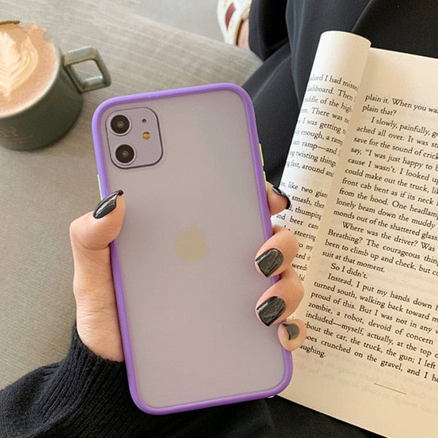 Matte Bumper Shockproof Silicone iPhone Case