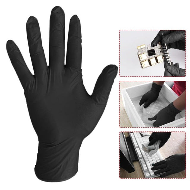 100pcs//set Disposable Gloves Latex for Home Cleaning Medical//Food//Rubber//Garden Gloves Universal for Left and Right Hand White