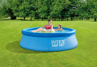 "Intex 8' x 30"" Easy Set Round Inflatable Above Ground Pool w/o pump 28110EH"