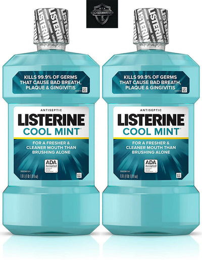 (2) Pack Listerine Ultraclean Oral Care Antiseptic Mouthwash Arctic Mint 33.8 oz