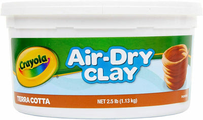 Crayola Air-Dry Clay 2.5Lb Terra-Cotta 4 pack (4x 2.5lb tubs)