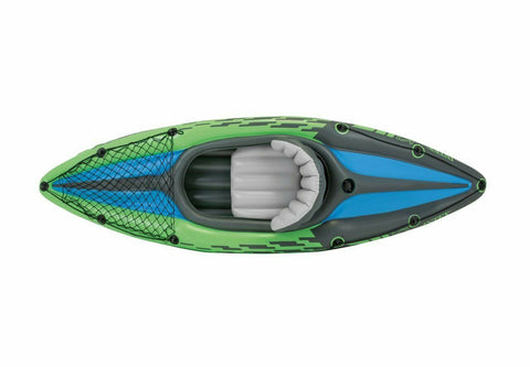 Intex Challenger K1 Inflatable Kayak Set w/ Aluminum Oars and Air Pump SHIP ASAP