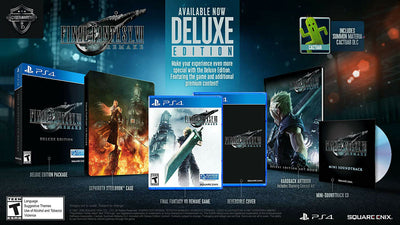 Sony PlayStation 4 Final Fantasy VII Remake Deluxe Edition Game SEALED