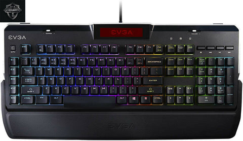 Sealed EVGA Z10 RGB Gaming Keyboard, RGB Backlit LED, Mechanical Blue Switches