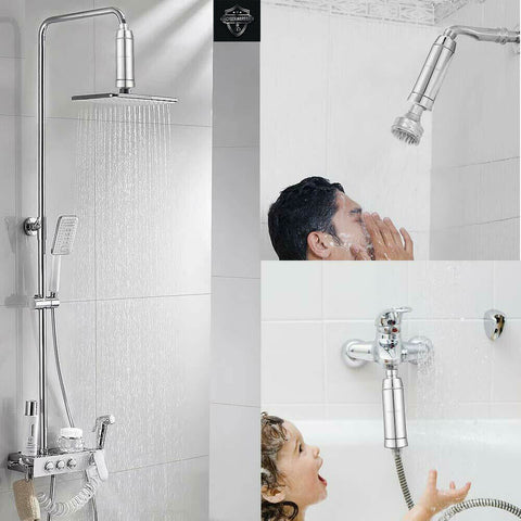 MAKHISTORY 15 Stage Shower Filter with 360° Rotatable Joint Contains Vitamin C